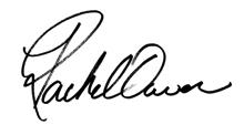 rachel owen signature